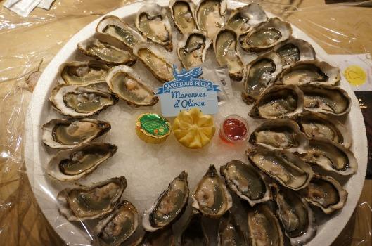 3 dozen oysters