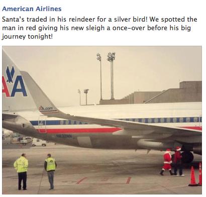Is Santa taking a plane?