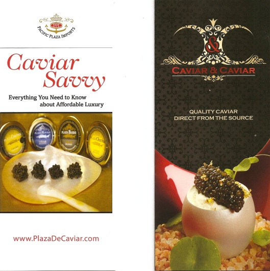2 different kinds of caviar