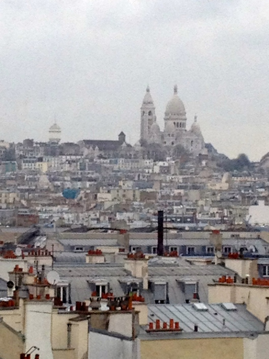 View from the top of Pompidou