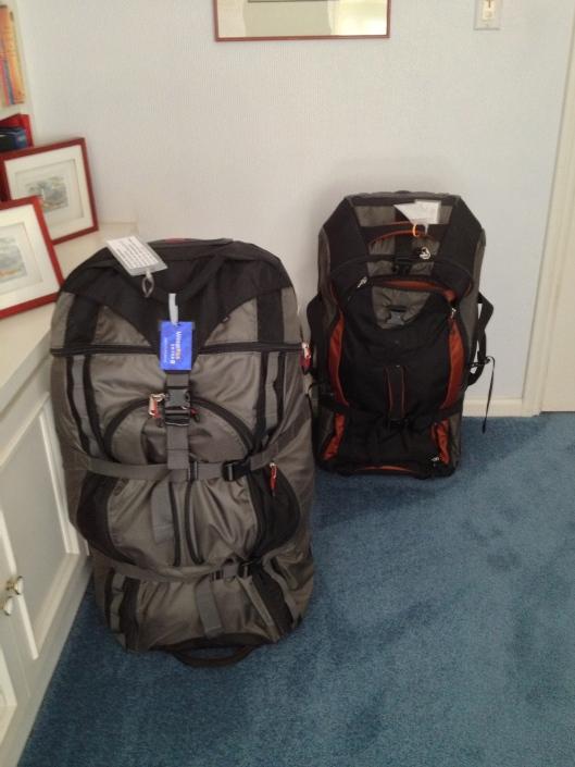 2 full giant suit cases
