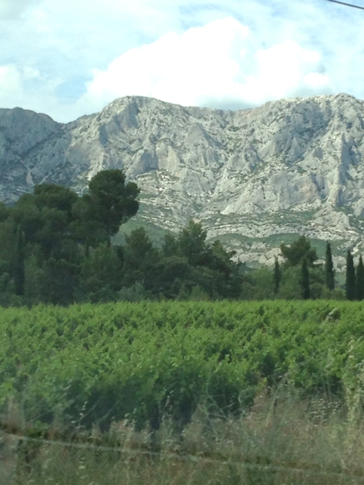 base of st Victoire